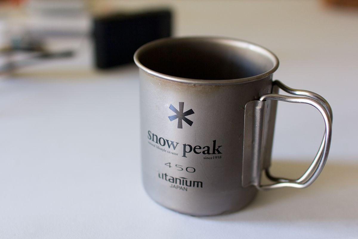 Snow Peak製チタンシングルマグ450ml